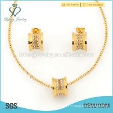 Ensembles de bijoux en or jaune traditionnels de style coréen pour le mariage