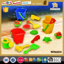 2016 plástico praia balde conjunto brinquedo para o verão