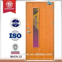 Painel de visão porta de fogo, porta de fogo de madeira, porta de entrada