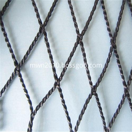 High-performance deep-sea no warp knitting or ground twist mesh