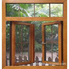 European Style Wood Cladding Aluminum Casement Window