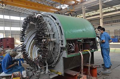 Profesional 10MW Steam Turbine Generator Care