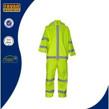 Venta al por mayor impermeable traje de protección traje de lluvia reflexiva