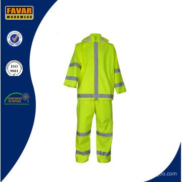 Wholesale Waterproof Protective Workwear Reflective Rain Suit