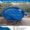 Waste tire recycling to fuel oil pyrolysis plant