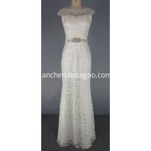 Elegant White Lace Wedding Bridesmaid Formal Dresses
