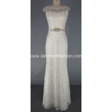 Elegant White Lace Wedding Bridesmaid Formal Dresses