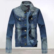 Vaqueros ocasionales de los hombres delgados Blue Denim Jacket