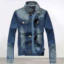 Fashion Slim Men′s Casual Jeans Blue Denim Jacket