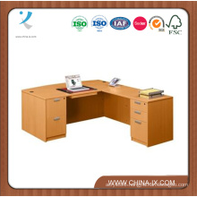 Wooden Contemporary Bow Front L Desk