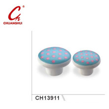 Pink Point Style Ceramic Knob Handles with Flower Pattern (CH13911)