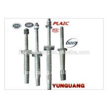 Linha de poder isolador final de aço gancho de montagem linhas aéreas montagem isolador encaixe pico para cruzeta de metal Pole fitting