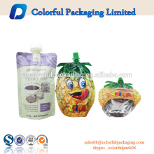 Bolsas plásticas modificadas para requisitos particulares del canalón de la comida de la bolsa de plástico del bolso de la forma especial