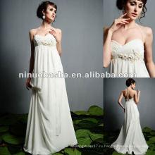 Линия Империя, Изысканные Beadings Свадебное Платье