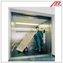 Dauerhafter gegenüberliegender Tür-Frachtaufzug mit der Maschine raumlos