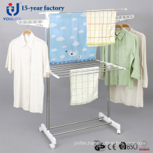 Stainless Steel Two Layer Coat Rack