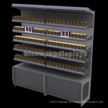 Abschließbarer Tobacco Einzelhandel Store Standing Lighting Werbung Metall Zigaretten Display Racks