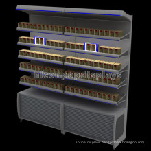 Lockable Tobacco Retail Store Floorstanding Lighting Advertising Metal Cigarettes Display Racks