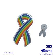 Pin de solapa de la cinta barata del arco iris del metal al por mayor para la beneficencia (xd-0901)