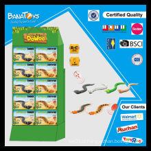 Engraçado 3 funções brinquedo pdq box RC brinquedo cobras