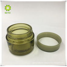 Frosted skincare jar green cap 4oz green cosmetic glass jars make up containers