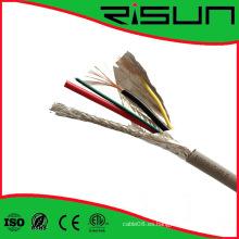 Cable de CCTV de la alta calidad 4 + 1 con el CE RoHS ISO9001