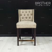 Haut chaise de bar chaise de tabouret en tissu dans des chaises