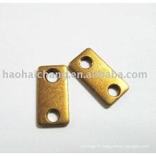Borne de sertissage en cuivre, non isolée, à connexion rapide
