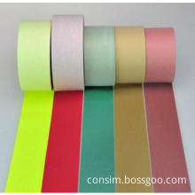 colored high light reflective fabric for safety clothing in rolls