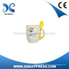 wholesale price Ceramic Mug with Spoon,Coffee Mug with Spoon