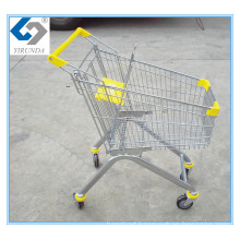 Metal Frame Shopping Hand Trolley with 80L