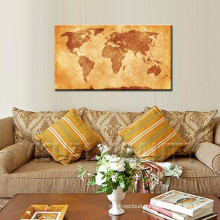 Vintage Wood World Map Wall Hanging Decoration