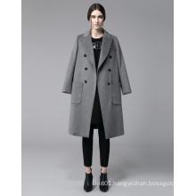 Newest European Design Fashion Women Fashion Winter Wool Long Coat