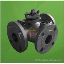 Goole Jacketed T Port Three Way Floating Ball Valve (GQ45F)