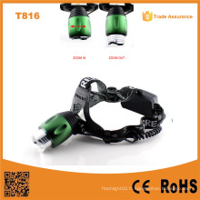 T816 High Power LED Headlamp Zoom réglable Focus Meilleur LED LED