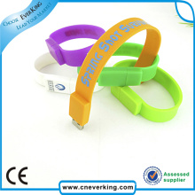 China Manufacture Protable Silicone Bracelet USB