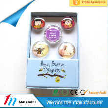 Hot Sales Custom souvenir glass magnet