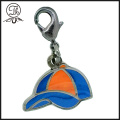Epoxy dome Mobile charm metal with ball chain