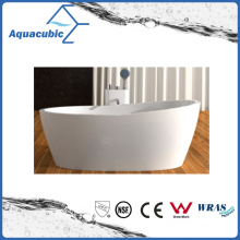 Bathroom Oval Solid Surface Freestanding Bathtub (AB6590)