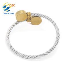 Simple conception en acier inoxydable matériaux fil d'argent fil bracelet