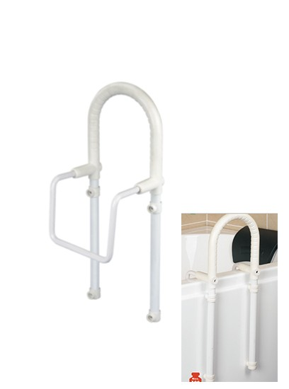Bathtub Handrail Water Proof Safety Rails With Non-skid Rubber Pads