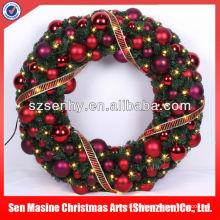 Guirnalda de la bola de los 80cm Ornamento de la puerta delantera Decoración de la Navidad luz