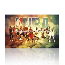 Imagem da parede do cartaz de NBA / presente para meninos / pintura da imagem da lona da equipe do basquetebol