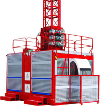 2t Capacity Double Cage Builders Hoist for Sale