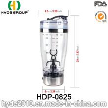 Bouteille de shaker électrique de protéine de gymnastique en plastique chaude populaire de 450ml, bouteille en plastique de shaker de protéine de Vortex (HDP-0825)