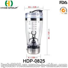 Garrafa elétrica do abanador da proteína plástica popular quente quente do Gym 450ml, garrafa plástica do abanador da proteína do Vortex (HDP-0825)