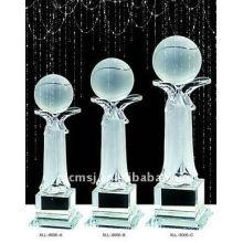 Prêmios esportivos Basquete Crystal Trophy For Winner Prize