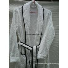 Velvet Pile Jacquard Weaven Bordure Bath Robe (DCS-9003)