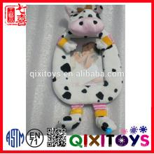 pelúcia recheado macia vaca brinquedo bebê foto foto moldura atacado