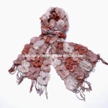 Caliente moda multi-tonificada bufandas de volantes con volantes (SNSZQ1011-1)